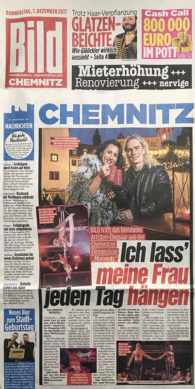 Duo Pospelov - The article in Bild Chemnitz (2017)